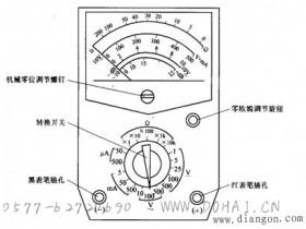 指针式万用表使用方法图解