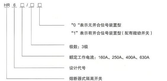 HR6熔断器式隔离开关的型号及含义