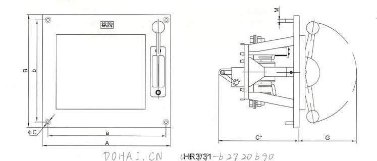 HR3熔断器式刀开关的外型与安装尺寸