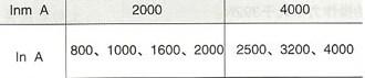DW16-2000、4000万能式断路器的额定电流