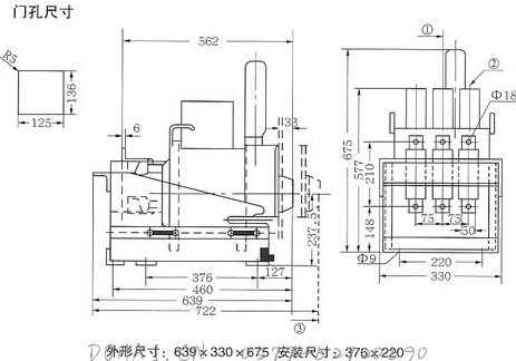 DW17C-630/800/1000/1250抽屉式断路器的接线