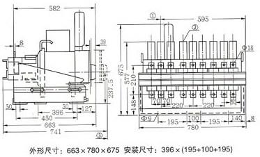 DW17C-3200抽屉式断路器外形尺寸