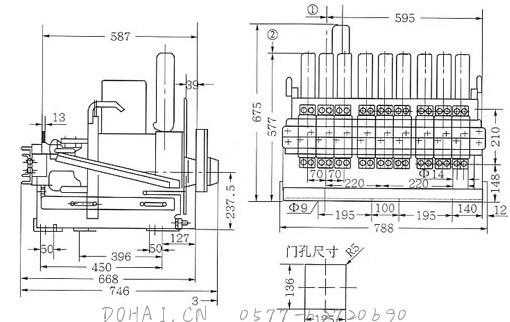 DW17C-3205抽屉式断路器外形尺寸