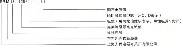 DHM18-125系列高分断小型断路器的型号及含义