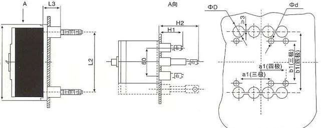CXM1L系列剩余电流断路器板后接线