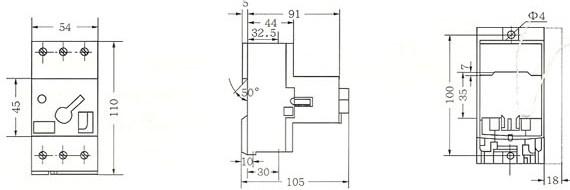 DZ108-32外形及安装尺寸