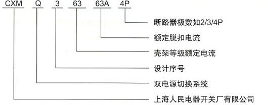 DHQ3B双电源自动切换装置的型号及含义
