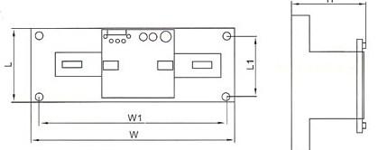 DHQ4B双电源自动切换装置的外型及安装