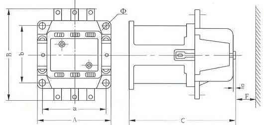 CJ20系列交流接触器的外型示意图