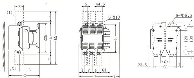 CJX2-F400、500的安装示意图