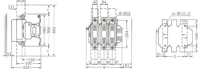 CJX2-F630的安装示意图