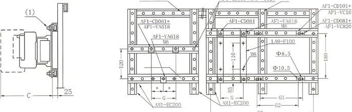CJX2-F115-300的安装示意图