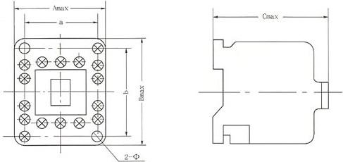 CJX5系列交流接触器的外型及安装尺寸