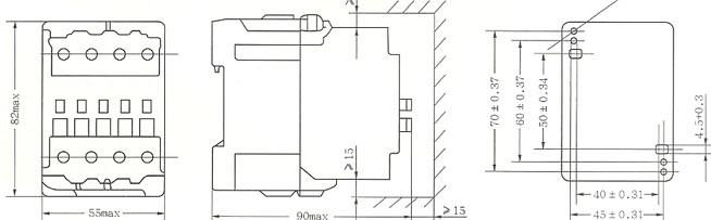 CJX8-25外形及安装尺寸