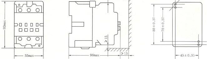 CJX8-30外形及安装尺寸