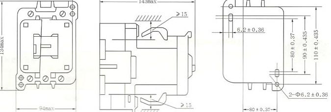 CJX8-65~85外形及安装尺寸