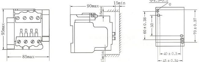 SRC1-25C的外型及安装尺寸