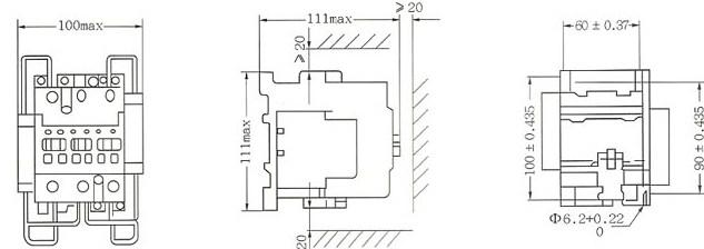 SRC1-40C SRC1-75C的外型及安装