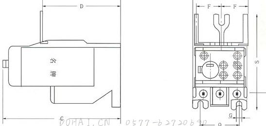 JR20-10Z、JR20-16Z、JR20-63Z、JR20-160Z外型安装尺寸