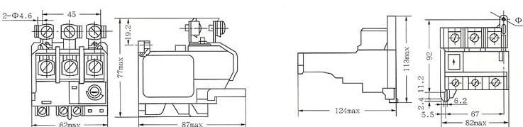 JR29系列热过载继电器的外型及安装