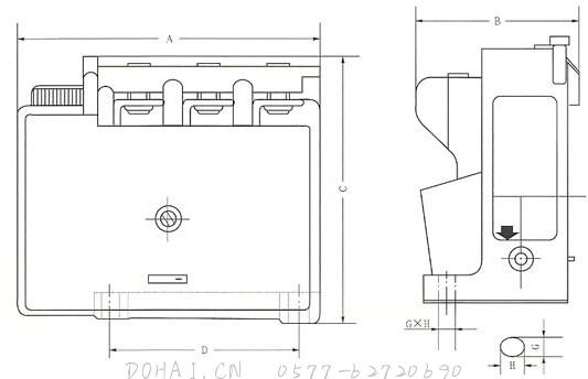 JR36系列热过载继电器的外型及安装尺寸