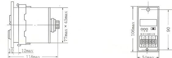JSS26的外型及安装尺寸