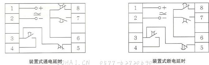 JS20系列晶体管时间继电器的外型-1