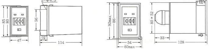 JSS1电子式时间继电器的安装示意图
