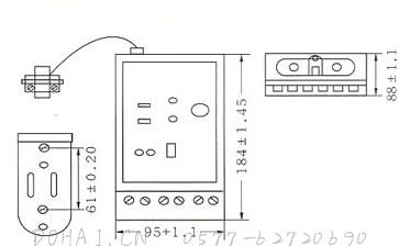 JD89漏电脉冲继电器的外型及安装尺寸
