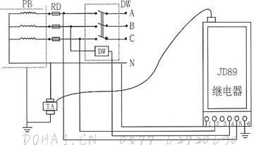 JD89漏电脉冲继电器的接线图-2