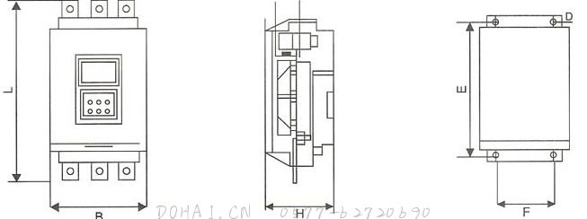 SRR8000智能型电机软起动装置的内部结构