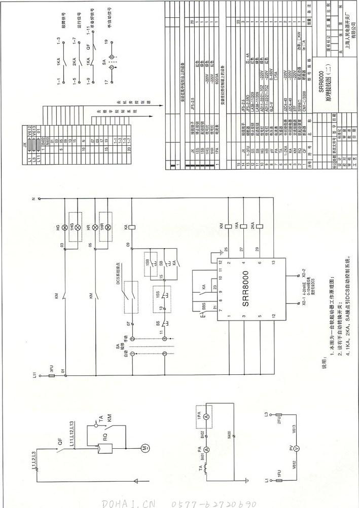 SRR8000智能型电机软起动装置的内部通讯接口