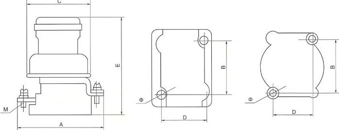 RL1系列螺旋式熔断器的安装示意图