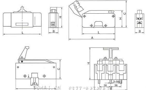 RT16(NT)系列低压高分断能力熔断器的安装示意图
