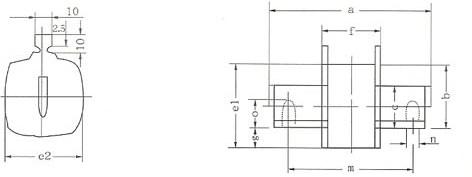 RT16(NT)系列低压高分断能力熔断器的熔体示意