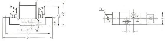 RT16(NT)系列低压高分断能力熔断器的底座示意图