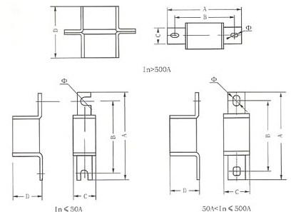 RS3系列熔断器的安装示意图