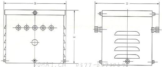JMB系列照明变压器的外型示意