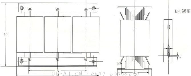 QZB系列自耦变压器的安装示意图
