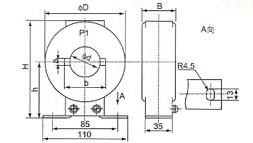 LMZ(J)-0.5(5-600/5)的外型及安装示意