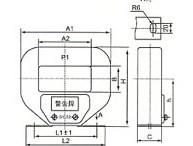 LMZJ1-0.5(800-3000/5)的外型及安装示意