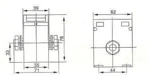 CA62/WS的安装尺寸