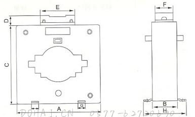 MSQ-0.66系列电流互感器的安装示意
