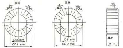 SR系列电流互感器的外型尺寸