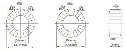 PR系列电流互感器的外型尺寸