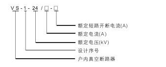 VS1-24真空断路器型号含义说明