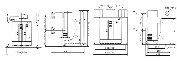 VS1-12M户内真空断路器技术参数及规格含义