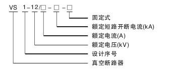 VS1-12真空断路器型号含义说明