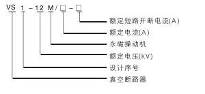 VS1-12M真空断路器型号含义说明